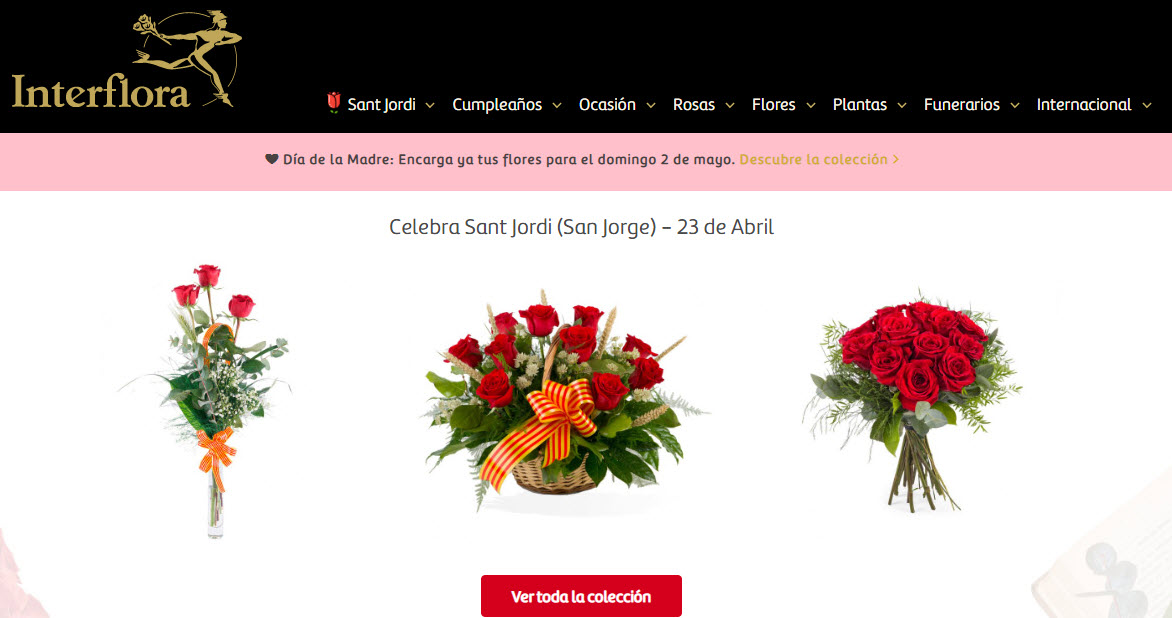 Rosas Sant Jordi a domicilio