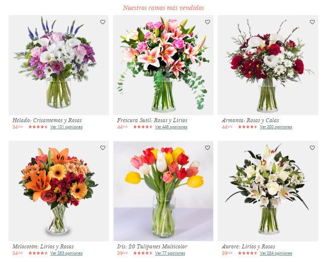 flores dia de la madre online