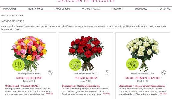 Mejores tiendas online de flores con entrega a domicilio en España