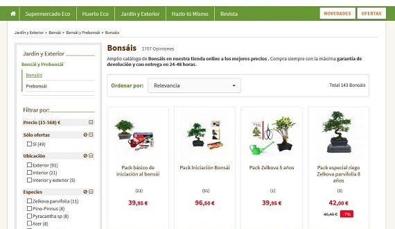 Comprar bonsáis baratos online a domicilio: packs y ofertas de interior