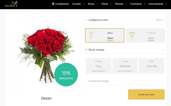 ofertas rosas rojas
