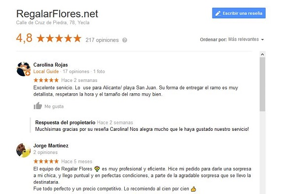 regalarflores.net opiniones