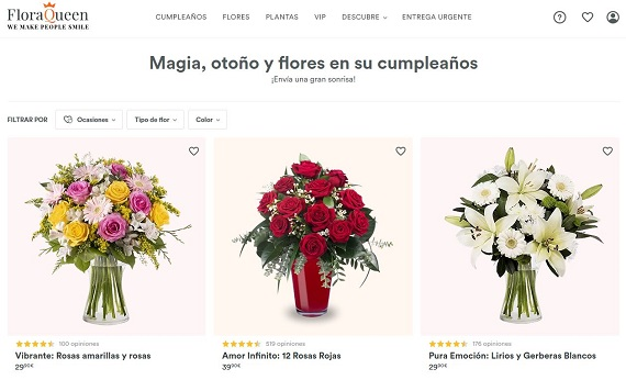 mandar flores online