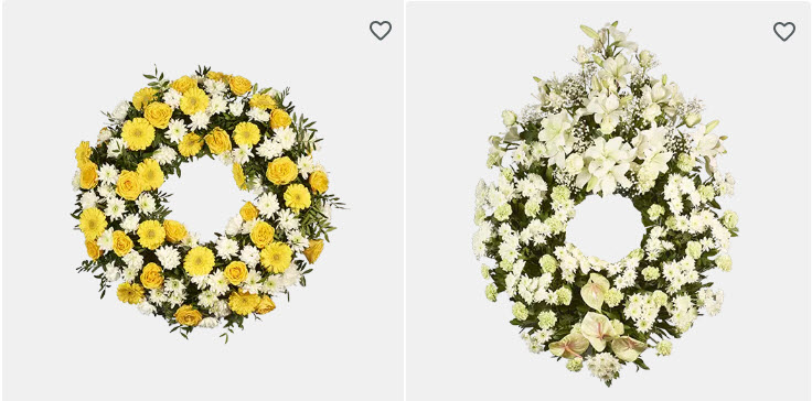 centros de flores baratas para difuntos